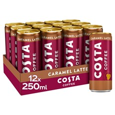 COSTA COFFEE CARAMEL LATTE 250ml CAN (12 PACK)