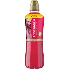 LUCOZADE SPORT AJ FRUIT PUNCH  £1.09 2 FOR £2
