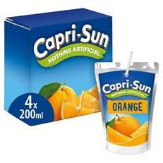 CAPRI SUN ORANGE 200ml (8 x 4 PACK)