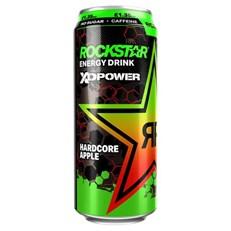 ROCKSTAR ENERGY DRINK XDURANCE HARDCORE APPLE 200mg CAFFEINE £1.35 500ml 12 CANS