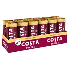 COSTA COFFEE VANILLA LATTE 250ml CAN (12 PACK)