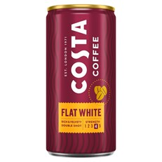 COSTA COFFEE FLAT WHITE 250ml CAN (12 PACK)