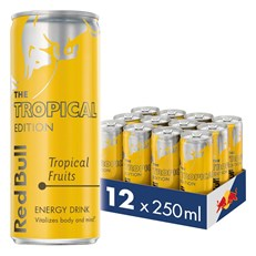 RED BULL ENERGY DRINK EDITIONS TROPICAL 250ML £1.35 (12 PACK)