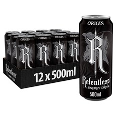 RELENTLESS ENERGY DRINK ORIGIN 500ml £1 (24 PACK)