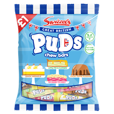 SWIZZELS GREAT BRITISH PUDS 135g £1 (12 PACK)