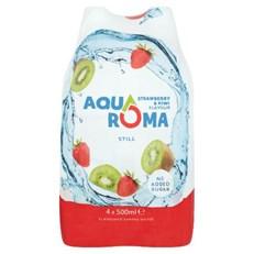AQUAROMA STRAWBERRY & KIWI FLAVOURED WATER SPORTS CAP 500ml (6 x 4 PACK)
