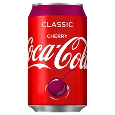 CHERRY COKE CANS 330ml (24 PACK)