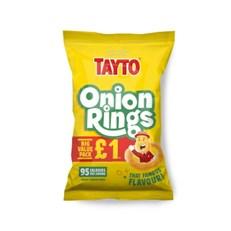 TAYTO £1 ONION RINGS 40g (16 PACKS)