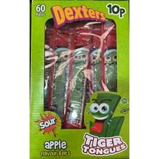 DEXTERS TIGER TONGUES SOUR APPLE 10p