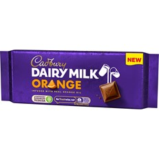 CADBURYS DAIRY MILK ORANGE MILK CHOCOLATE 180g (3 PACK)