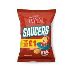 TAYTO £1 BBQ SAUCERS 55g (16 PACK)