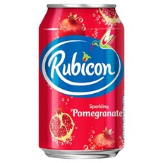 RUBICON SPARKLING POMEGRANATE FIZZY DRINK CANS 330ml (24 PACK) 31 JULY DATED