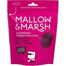 MALLOW & MARSH RASPBERRY MARSHMALLOW DARK CHOCOLATE 100g