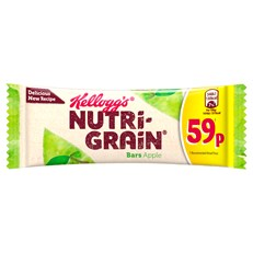 KELLOGGS CEREAL BARS 37g 59p NUTRIGRAIN APPLE (25 PACK)