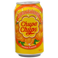 CHUPA CHUPS CANS ORANGE FULL SUGAR 345ml (24 pack)