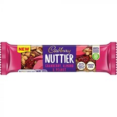CADBURY NUTTIER CRANBERRY ALMOND & PEANUT 40g (3 PACK)