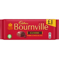 CADBURYS BOURNVILLE DARK CHOCOLATE £1 100g (18 PACK)