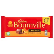 CADBURYS BOURNVILLE DARK CHOCOLATE £1 ORANGE 100g (18 PACK) 14 MAY DATED