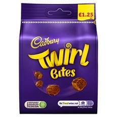 CADBURYS TWIRL BITES £1 95g (10 PACK)
