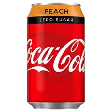 COKE ZERO PEACH 330ML PMP 59P
