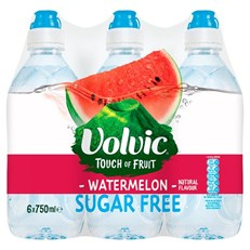 VOLVIC TOUCH OF FRUIT SPORT WATERMELON SUGAR FREE 750ml (6 PACK)