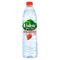 VOLVIC TOUCH OF FRUIT SUGAR FREE STRAWBERRY 500ml (12 PACK)