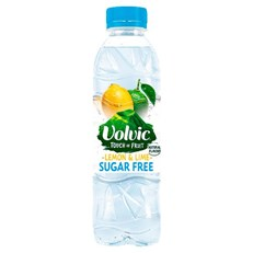 VOLVIC TOUCH OF FRUIT SUGAR FREE LEMON & LIME 500ml (12 PACK)