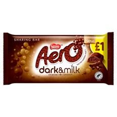 AERO DARK & MILK CHOCOLATE 90g £1 (15 PACK)