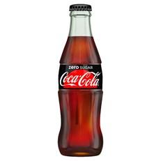 COCA COLA ZERO SUGAR GLASS BOTTLES 330ml (24 PACK)