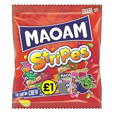 HARIBO £1 MAOAM STRIPES 140g (12 PACK)