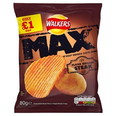 WALKERS £1 MAX FLAME GRILLED STEAK