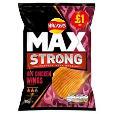WALKERS £1 MAX STRONG HOT CHICKEN WINGS