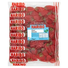 HARIBO BULK BAG GIANT STRAWBS 3kg