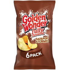 GOLDEN WONDER MULTIPACK SAUSAGE & TOMATO