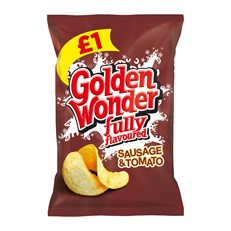 GOLDEN WONDER £1 SAUSAGE & TOMATO