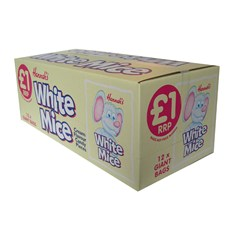 HANNAHS WHITE MICE 200g £1 (12 PACK) 31 OCTOBER DATED