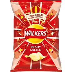 WALKERS READY SALTED 32.5g Bags (32 PACK)