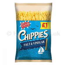 GOLDEN WONDER £1 CHIPPIES SALT & VINEGAR