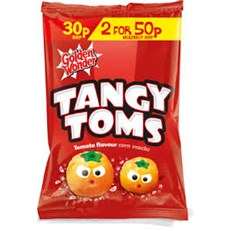 GOLDEN WONDER TANGY TOMS 25g 2 FOR 50P (36 PACK)