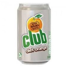 CLUB ORANGE DIET 330ml (24 PACK)