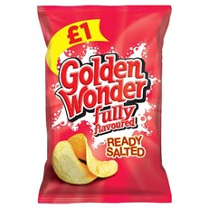 GOLDEN WONDER £1 READY SALTED