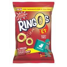 GOLDEN WONDER RINGOS SWEET CHILLI 55g £1 (15 PACK)
