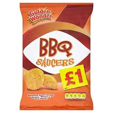 GOLDEN WONDER £1 BBQ SAUCERS