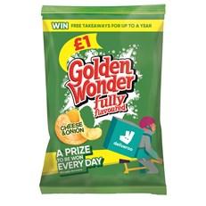 GOLDEN WONDER £1 CHEESE & ONION
