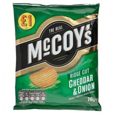 MCCOYS £1 CHEDDAR & ONION 65g (16 PACK)
