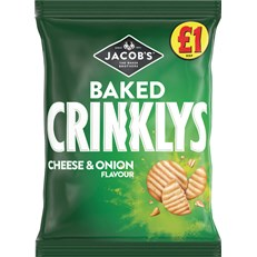 MINI CHEDDARS £1 CRINKLY CHEESE & ONION