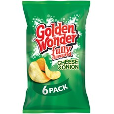 GOLDEN WONDER MULTIPACK CHEESE & ONION (16 x 6 PACK)