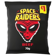SPACE RAIDERS BEEF 70g £1 (16 PACK)