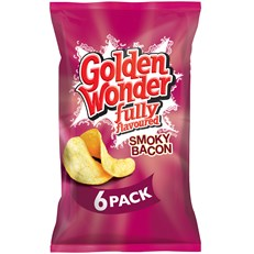 GOLDEN WONDER MULTIPACK SMOKEY BACON