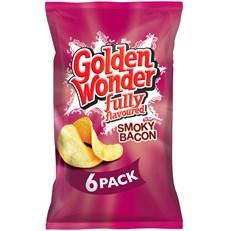 GOLDEN WONDER MULTIPACK SMOKY BACON (16 x 6 Pack)